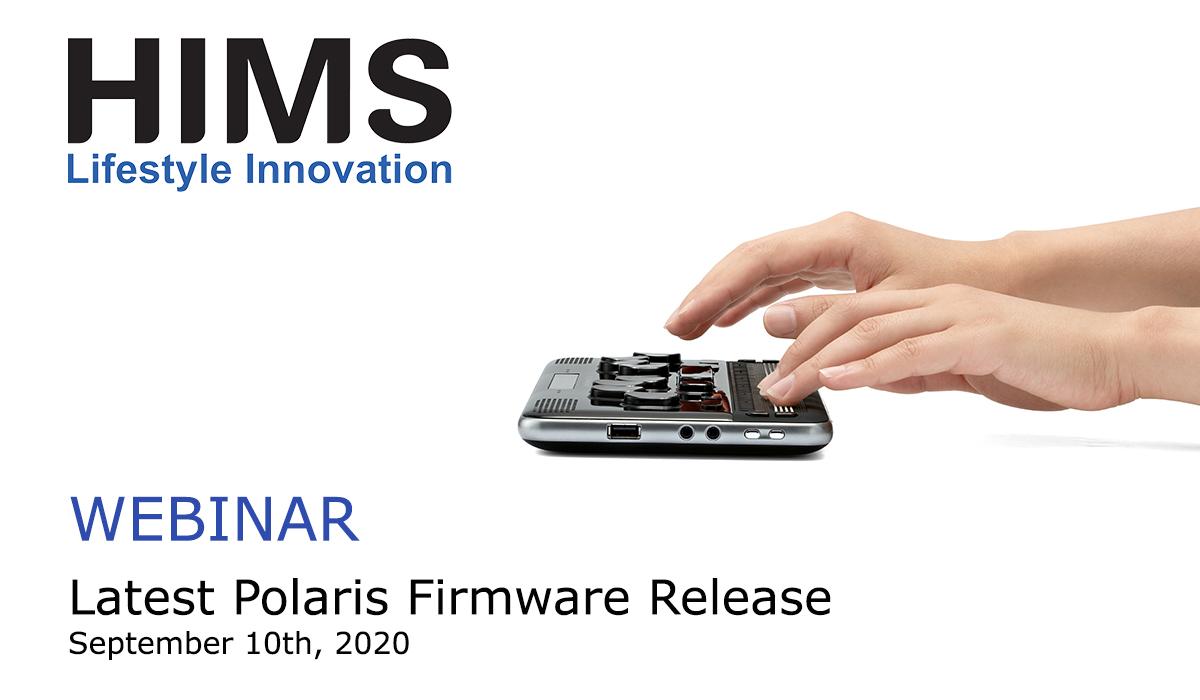Webinar: Latest Polaris Firmware. September 10th 2020.