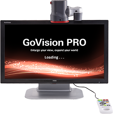GoVision Pro desktop magnifier demonstrating OCR capabilities.
