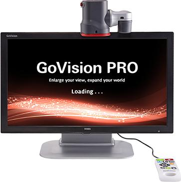 GoVision Pro desktop magnifier demonstrating OCR capabilities.