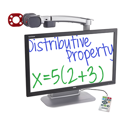 GoVision magnifier with math shown on the screen